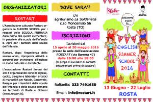 Summer school ELEMENTARI 2016
